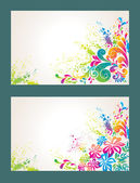 Set of colorful flower background. — Stock Vector