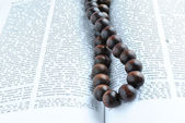 Bible rosary beads — Stock Photo