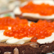 Stock Photo: Sandwich with red caviar