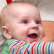 Stock Photo: Baby laughing and playing