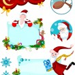 Stock Vector: Christmas card set