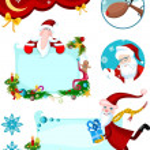 Christmas card set — Stock Vector
