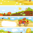 Vector de stock : Farm cards