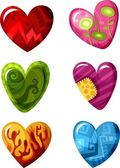 Set de corazón — Vector de stock