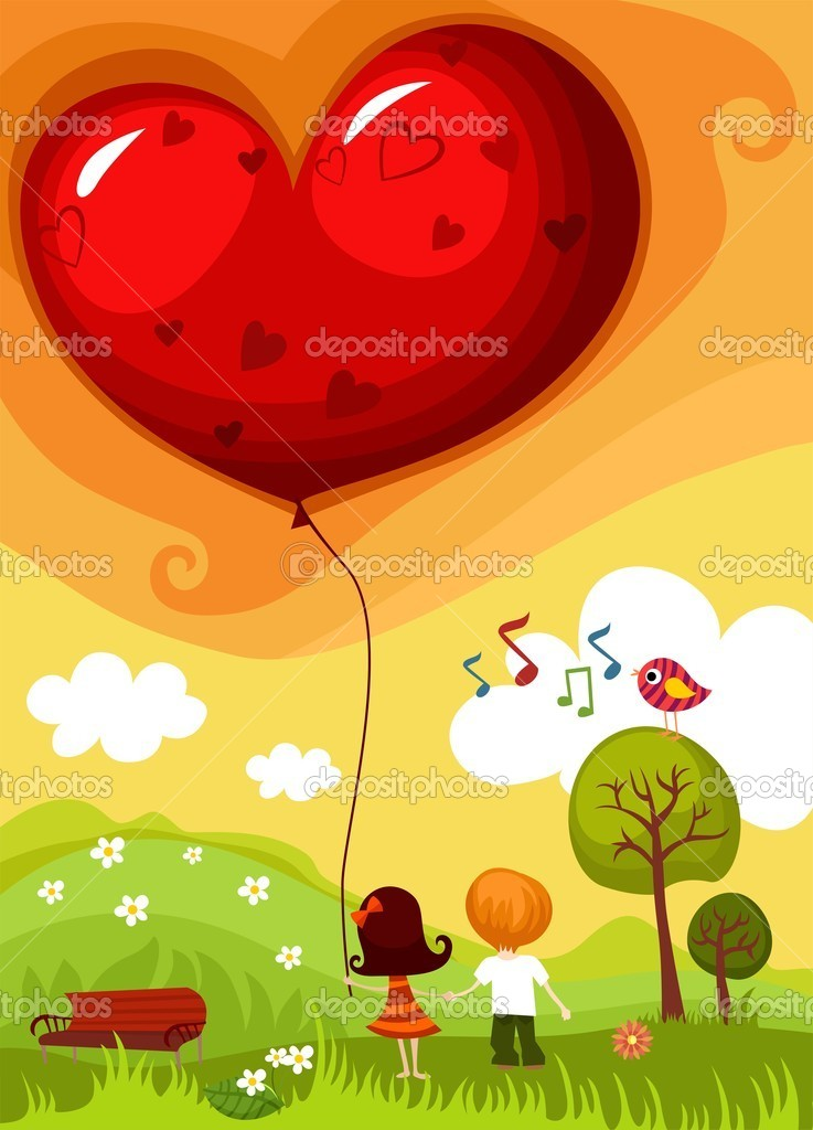 Vector illustration of a Valentine card — ベクター素材ストック #4609204
