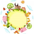 Royalty-Free Stock Imagem Vetorial: Easter card