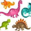 Royalty-Free Stock Vector Image: Dinosaur set