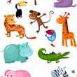 conjunto de animal — Vector de stock