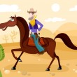 Royalty-Free Stock Vector Image: Cowboy
