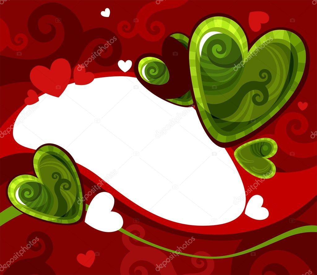 Vector illustration of a valentine card  Stock Vector #4858004