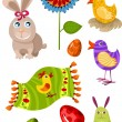 Royalty-Free Stock Vectorafbeeldingen: Easter set