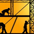 Construction workers — Stockfoto