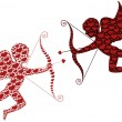 Red cupid - Stock Vector