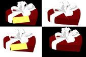 Herz-geformte geschenk-box — Stockvektor