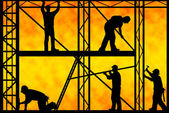 Construction workers — Foto Stock