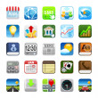 Foto Stock: Phone web icons