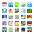 Phone web icons — Stock Photo