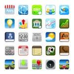Phone web icons — Stock Photo