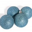 Stock Photo: Four Christmas balls