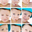 Royalty-Free Stock Photo: Child emotions collage