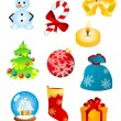 Christmas icons and symbols — Stock Vector #3946108