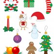 Christmas icons and symbols — Stock Vector #3946127