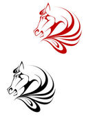 Horse tattoo — Stock Vector