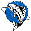 Fishing symbol - Stockvectorbeeld