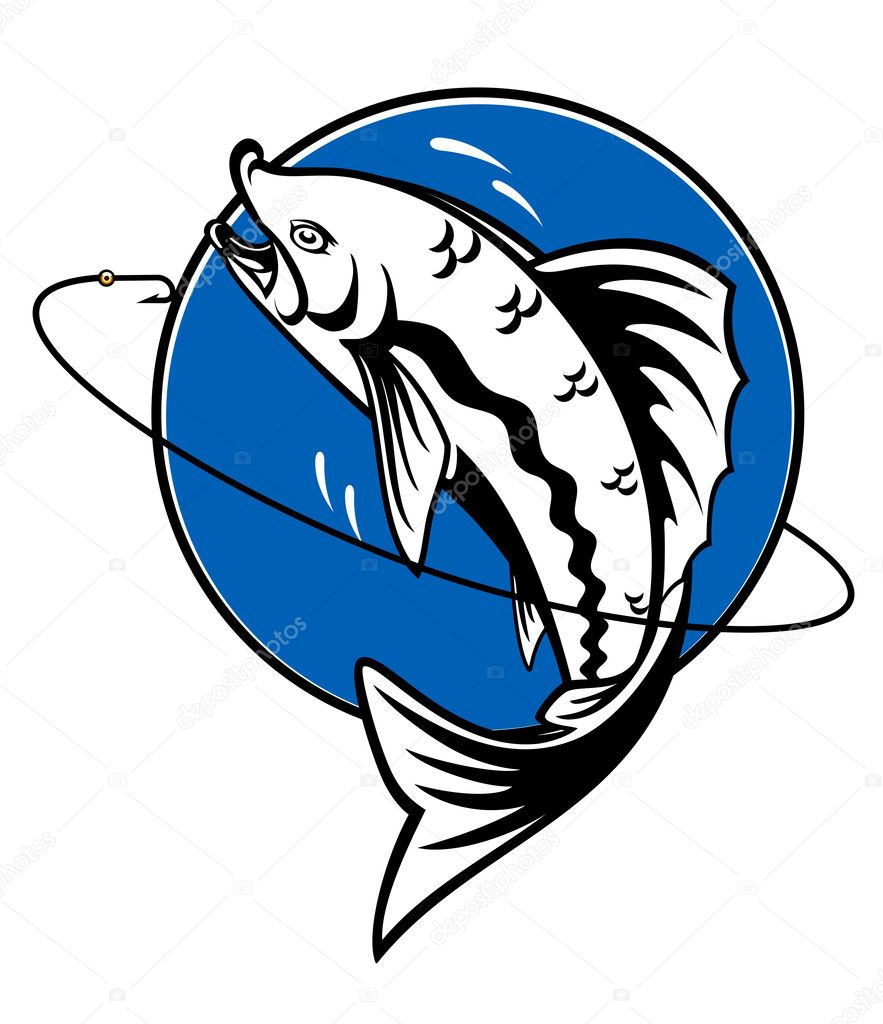 Fish as a fishing symbol for design — Stock Vector #4100181