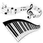 Fondo de música — Vector de stock