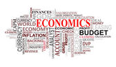 Ekonomi etiketler cloud — Stok Vektör