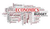 Economie labels cloud — Stockvector