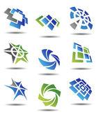 Uppsättning abstrakta symboler — Stockvektor