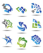 Zestaw symboli streszczenie — Wektor stockowy