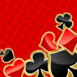 Poker background — Imagen vectorial