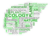 Ecology tags cloud — Vector de stock