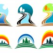 Nature icons — Stock Vector #4650664