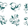Floral decorations - Stock Vector