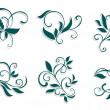 Floral decorations — Stockvectorbeeld