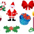 Christmas icons and symbols — Stock Vector #4650718