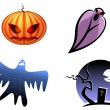 Halloween and ghost icons - Stock Vector