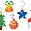 Christmas icons and symbols - Stock Vector