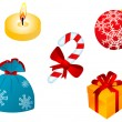 Christmas icons and symbols — Stock Vector #4650728