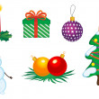 Christmas icons and symbols — Stock Vector #4650733