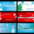Set of christmas cards — Stockvectorbeeld