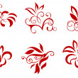 Floral and flower decorations - Imagen vectorial