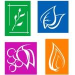 Set of leaves symbols — Stock Vector