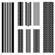 Tire patterns — Stockvectorbeeld