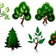 Royalty-Free Stock Vector Image: Tree symbols