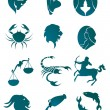 Set of horoscope symbols - Stock Vector